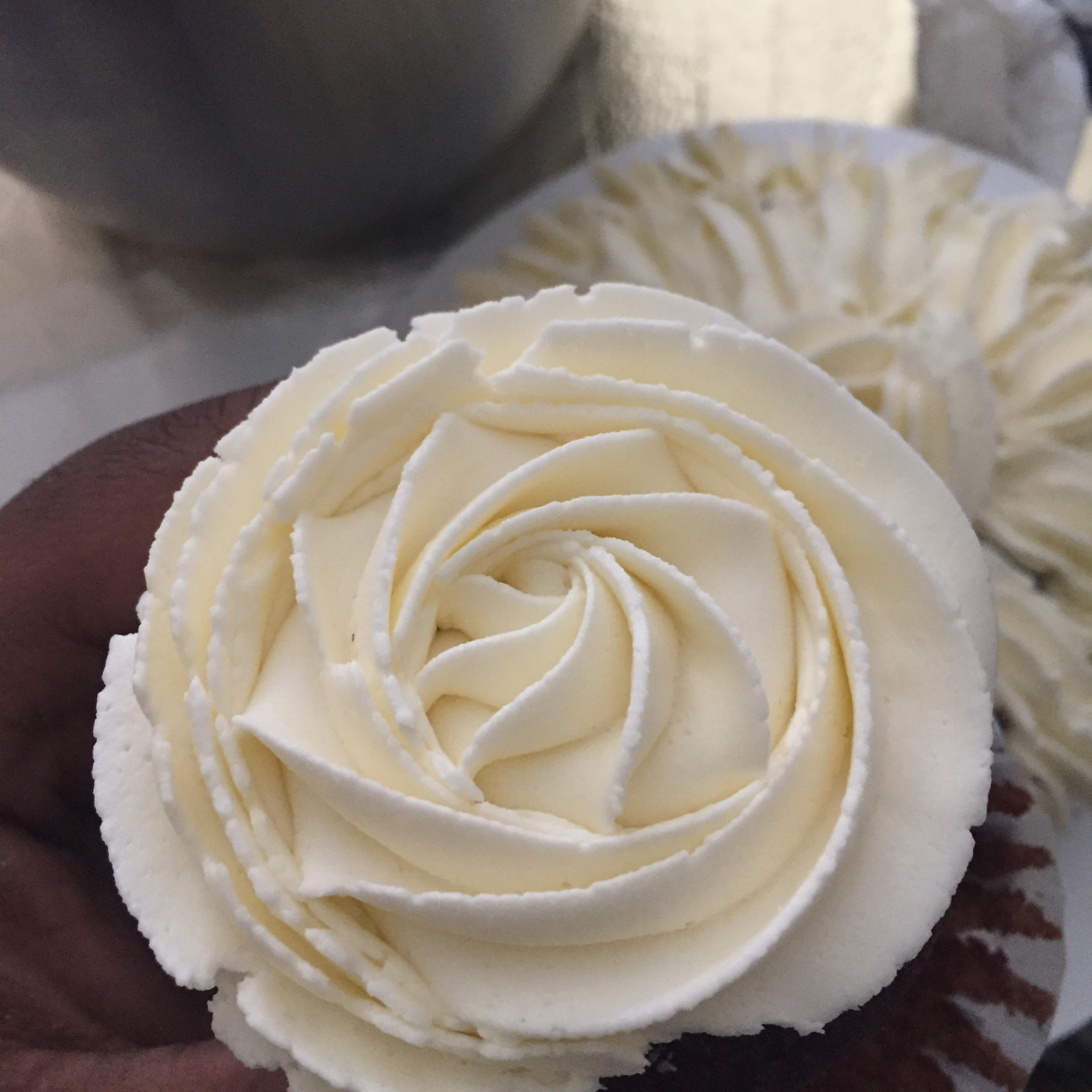 Chocolate w/ Vanilla Frosting